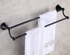 Bathroom Accessory Oil Rubbed Bronze Wall Mounted Double Towel Bar Holder Pba852