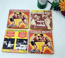 FAMOUS FIGHTS BOXING CASTLE FILMS 8MM SUPER 8 REEL MOVIES LOT MEMORABILIA SPORTS