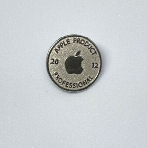 Collectible badge from Apple Product Professional 2012