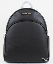 Michael Kors Abbey Large Black Leather Backpack Book Shoulder Bag New NWT