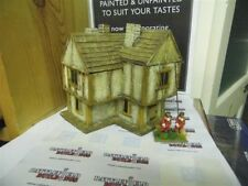 28MM PMC GAMES ME15 (PAINTED)  Two storey corner house 3 Small roofs Slate