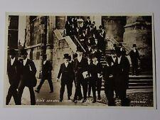 K492 - BOYS LEAVING CHAPEL at ETON - Valentines Postcard