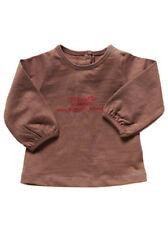 "Camiseta marrón de niña de manga larga ""Brillante"" (varias tallas)"