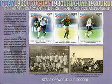 Bhutan 2005 MNH World Cup Soccer Stars 3v M/S Footbal Uruguay 1st Champions
