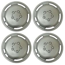 Set of 4 15 Inch Silver Extra Deep Dish Van Wheel Trims Hub Caps For Fiat Ducato