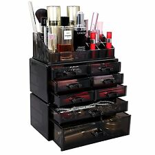 Acrylic Makeup Cosmetic Organizer Storage Drawer Display Jewelry Holder Box Case