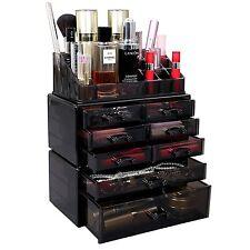 Acrylic Makeup Cosmetic Organizer Storage Drawer Display Jewelry Holder Box Case