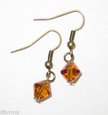 glass amber bead EARRINGS Jewellery