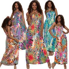 Polyester Halter Neck Long Sleeve Floral Dresses for Women