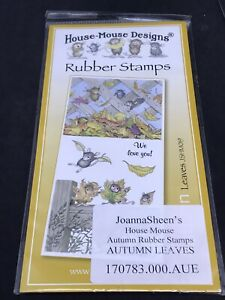 Joanna Sheen House Mouse unmounted rubber stamps - Autumn Leaves mice