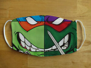 Face Mask Funny Ninja Turtles TMNT Cartoon Reusable Protection Face Cover UK