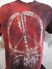 Black Hills South Dakota Native American Peace Sign Tie Dye Mens T Shirt Size L