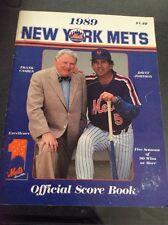 NY METS BASEBALL OFFICIAL SCOREBOOK! Cashen, Johnson Cover