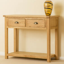 Roseland Oak Hall Table / Solid Oak Large Console Table / Wood Telephone Table