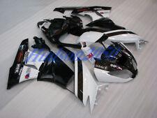 Fairing Set For Kawasaki Ninja ZX6R ZX-6R 2009-2012 09 10 11 Kit #05 Black/White