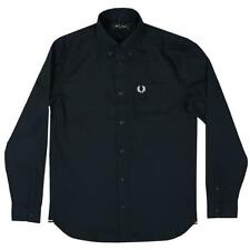 Fred Perry Men's Navy Oxford Shirt