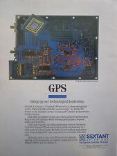 6/1991 PUB SEXTANT AVIONIQUE GPS NAVIGATION SYSTEM VLSI ASIC ORIGINAL AD