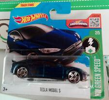 Tesla Model S blue HW GREEN SPEED HOT WHEELS hotwheels MIB SEALED