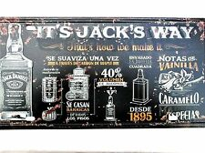 JACK DANIELS WAY METAL TIN SIGNS vintage cafe pub bar garage decor plaque