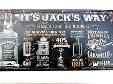 JACK DANIELS WAY METAL TIN SIGNS vintage cafe pub bar garage decor