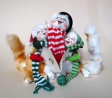 Annalee Christmas Dolls - 3 Jovial Cats Joined Together for Christmas Carols