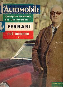L'AUTOMOBILE 141 1958 DOSSIER 19p FERRARI 10 ANS DE VICTOIRES (92 PHOTOS)