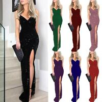 Women Maxi Summer Gown Sleeveless Party Canonicals V-Neck Sexy Dress Fashion