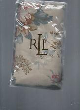 Ralph Lauren Lake House Floral King Sham Khaki Beige Blue New 1st Quality