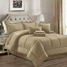 JML Comforter Set, 8 Piece Microfiber Bedding Comforter Sets with Shams - Luxury