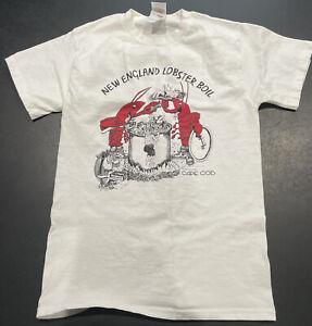 Vintage 1990 Lobster Boil Tee Shirt Mens Small White