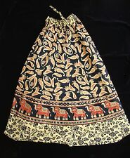 HIPPIE ETHNIC INDIAN COTTON HAND BLOCK PRINT  SKIRT Long Gypsy Lehenga1