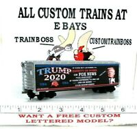 HO CUSTOM LETTERED TRUMP FAKE NEWS TRUMP FOR 2020 COLLECTIBLE REEFER  LOT F