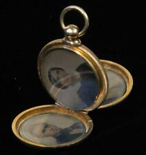 Ambrotype Locket 3 Tinted portraits Fitted Velvet Case Nicholson Coulter Family