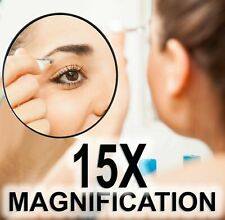 💋 15x Magnification Beauty Mirror Make Up Cosmetic Magnifying Eyebrow Plucking