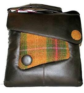 Mala Leather Abertweed Brown Green Large Cross Body Leather Handbag RRP £95.00
