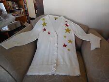 PRINCESS VERA WANG Fuzzy Star Cardigan Sweater - Size Large - Never Worn