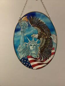 amia Stainglass eagle suncatcher