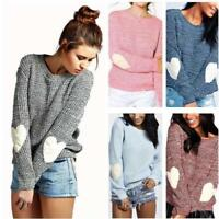 Womens Casual Long Sleeve Knitted Sweater Loose Warm Solid Cardigan Tops Outwear