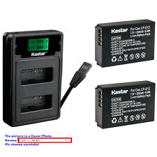 Kastar Battery LZD2 USB Charger for Canon LP-E12 LC-E12 Canon PowerShot SX70 HS