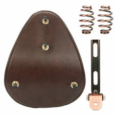 Motorcycle Leather Spring Solo Bracket Seat Driver Seat Set For Harley Bobber