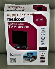 Meliconi AT-49 Antenna TV Per Interni Con Amplificazione Fino A 49 DB