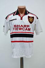 MANCHESTER UNITED KIDS 1997/1998/1999 AWAY FOOTBALL SHIRT JERSEY UMBRO ENGLAND