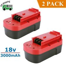 2 Pack New 18V 3000mAh Ni-Cd Battery for Black & Decker Hpb18 Hpb18-Ope Fs18Bx