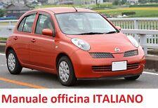 NISSAN MICRA K12 (2002/2010) Manuale Officina Riparazione ITALIANO SU CD