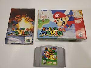 Super Mario 64 (Nintendo 64, 1996) N64 CIB Complete in Box w/ Manual Tested