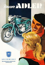 Art Ad  Adler Motorcycle  Motorbike Bike  Poster Print
