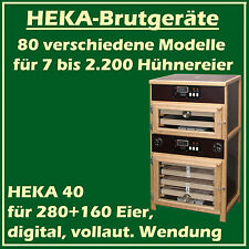 Heka 40 - Fully-Automatic Egg Incubator with Separate Hatcher - For 280+ 160