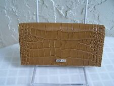 NEW Longchamp Roseau Croco Wllt  Wallet  Honey NWT $220