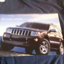 2006 Jeep Grand Cherokee Color Brochure Catalog Prospekt