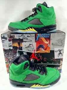 Size 11 Nike Air Jordan 5 Retro SE Oregon Men's  CK6631-307 100% Authentic